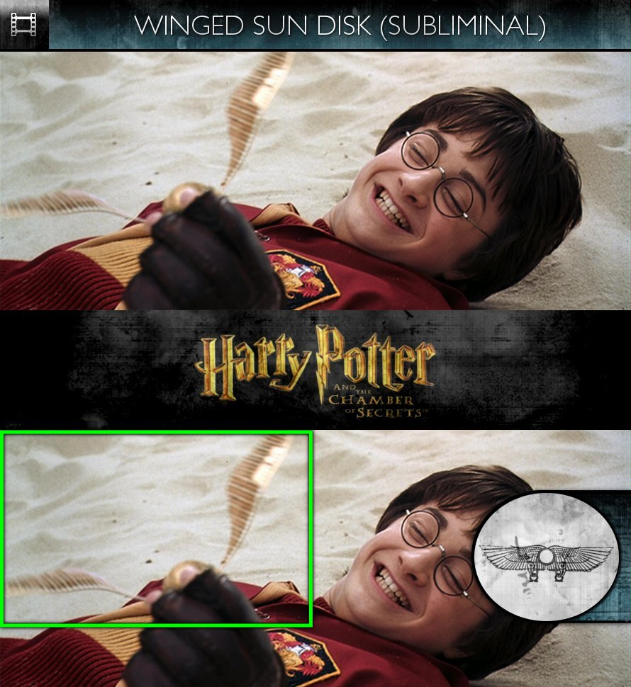Harry Potter and the Chamber of Secrets (2002) - Winged Sun-Disk - Subliminal