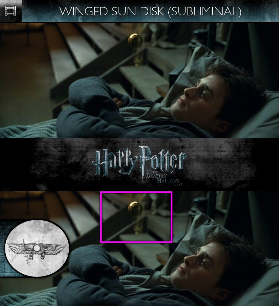 Harry Potter and the Deathly Hallows, Part 1 (2010) - Winged Sun-Disk - Subliminal