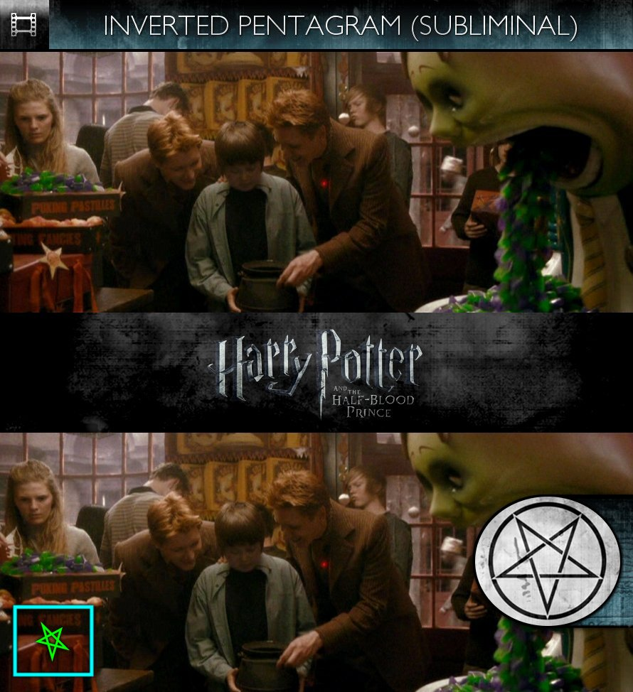Harry Potter and the Half-Blood Prince (2009) - Inverted Pentagram - Subliminal
