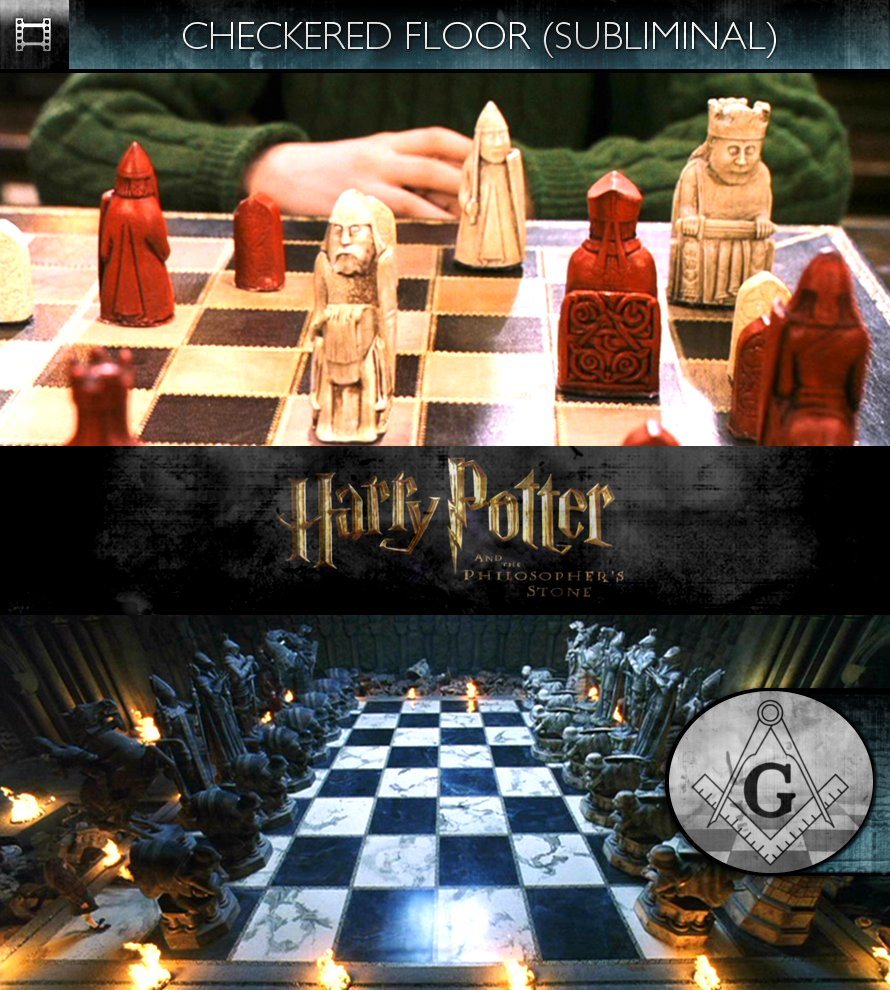 Harry Potter and the Philosopher's Stone (2001) - Checkered Floor - Subliminal