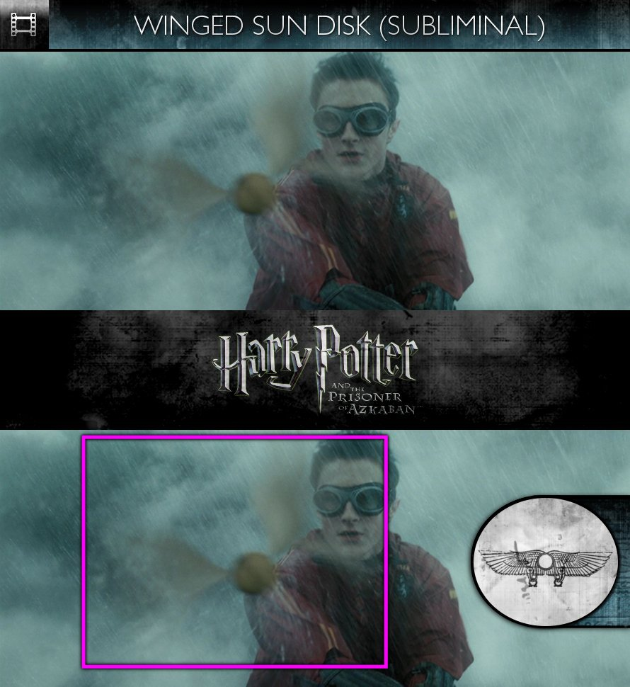 Harry Potter and the Prisoner of Azkaban (2004) - Winged Sun Disk - Subliminal