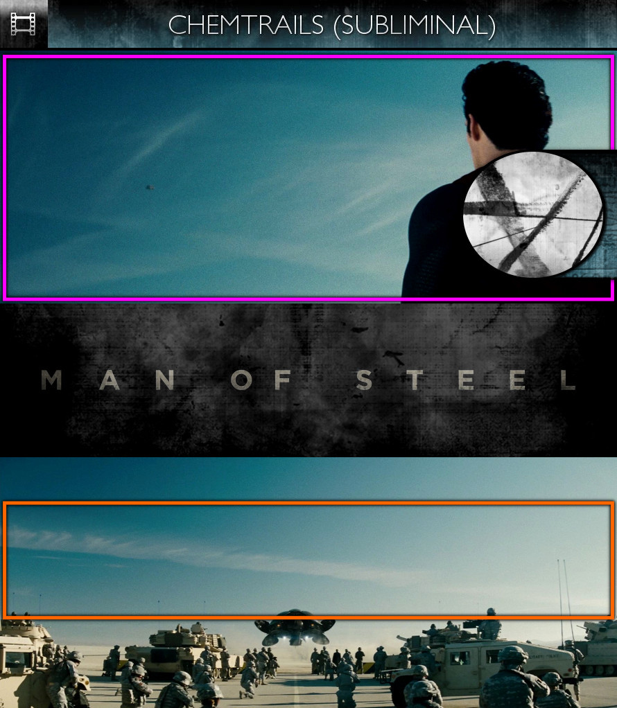 Man of Steel (2013) - Chemtrails - Subliminal