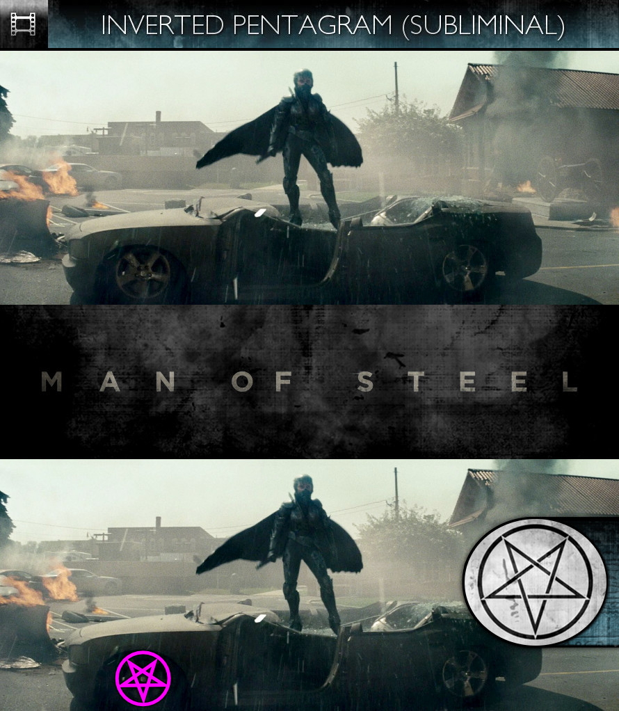Man of Steel (2013) - Inverted Pentagram - Subliminal