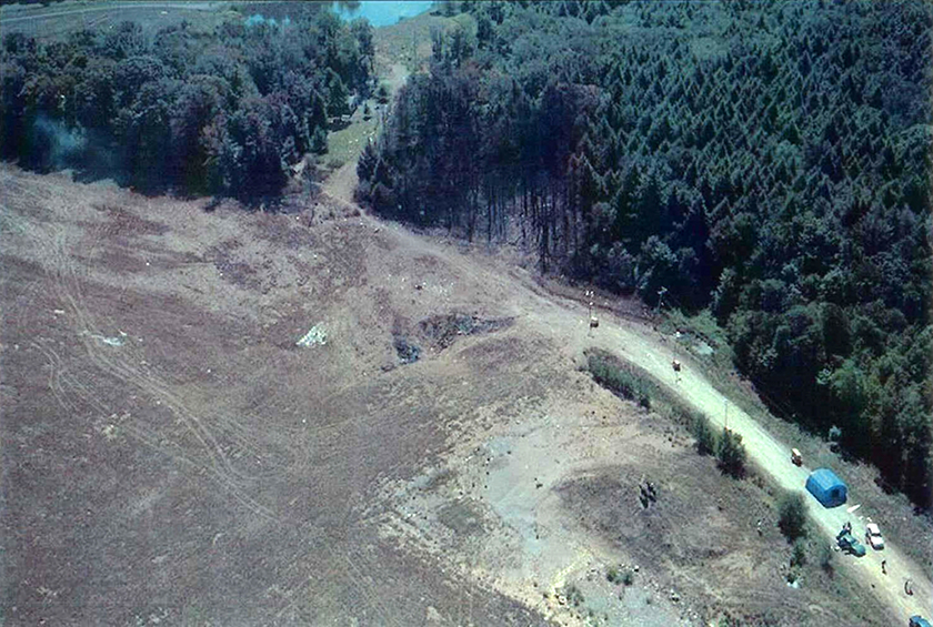 9/11 - Flight 93 Crash Site - Aerial Photo