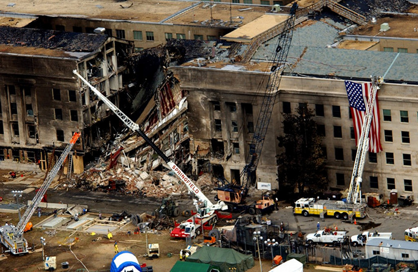 9/11 - The Pentagon - Aerial Photo