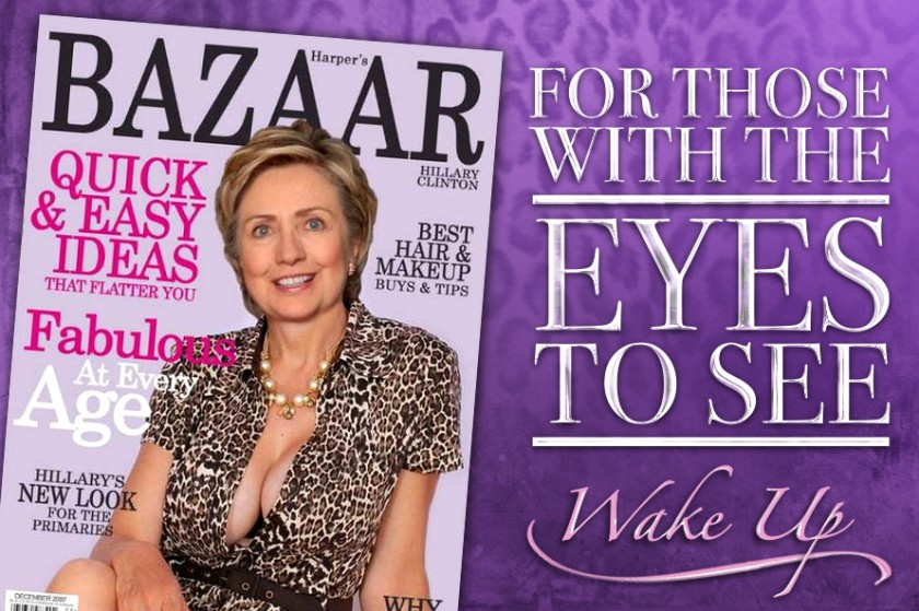 Hillary Clinton - For Those With The Eyes To See-Banner