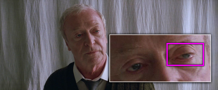 Project Monarch - Batman Begins (2005) - Droopy Eyelid - Michael Caine