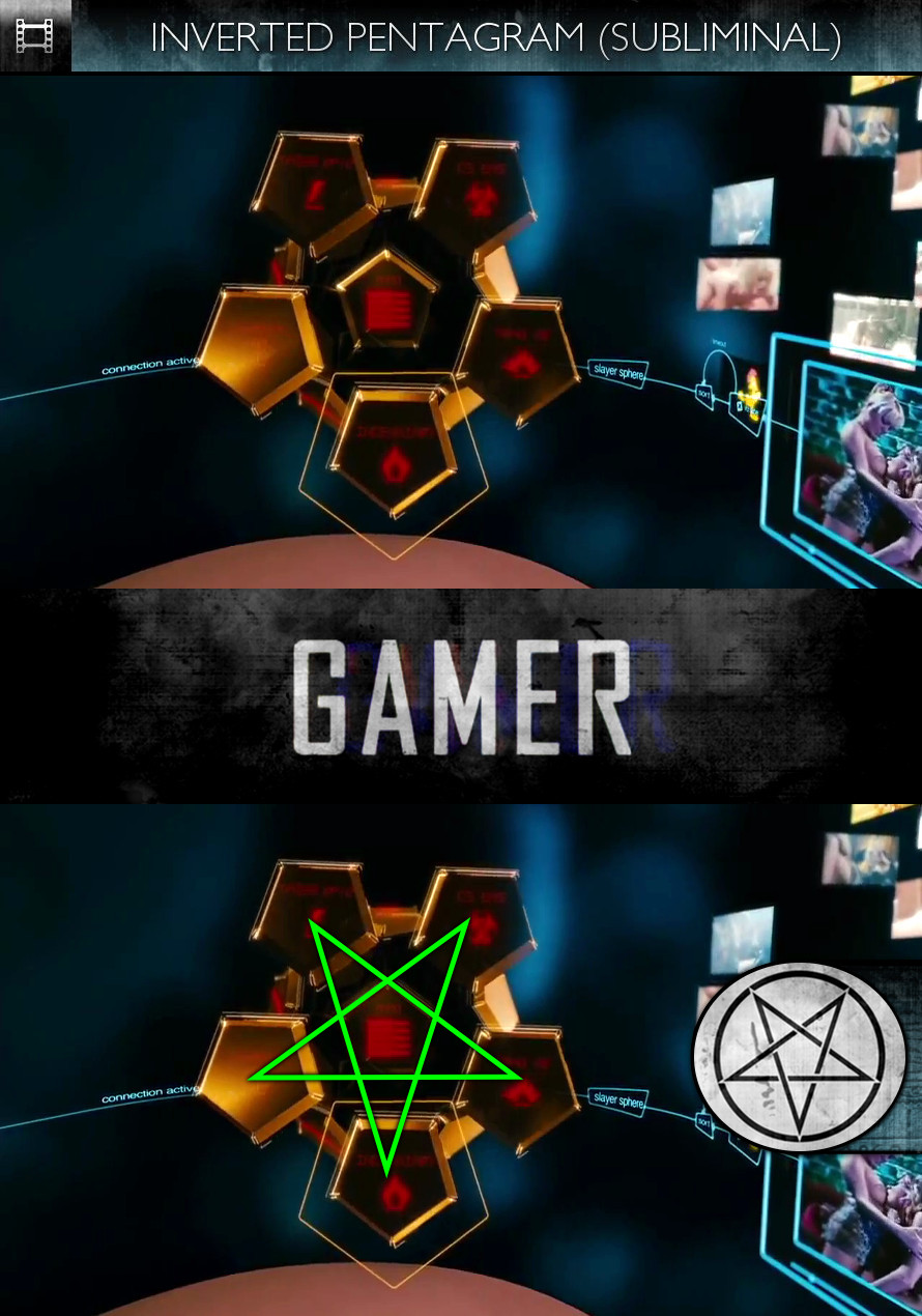 Gamer (2009) - Inverted Pentagram - Subliminal