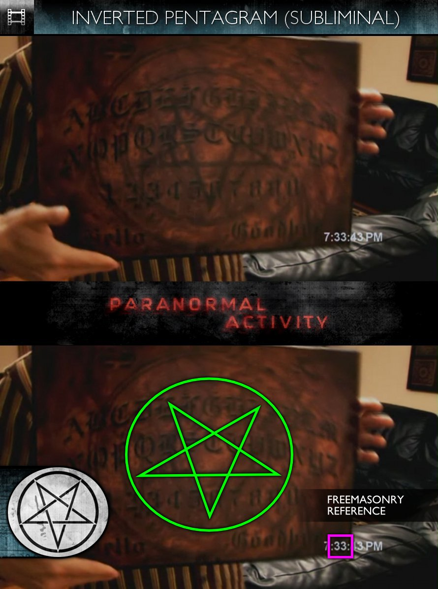 Paranormal Activity (2009) - Inverted Pentagram & Freemasonry - Subliminal