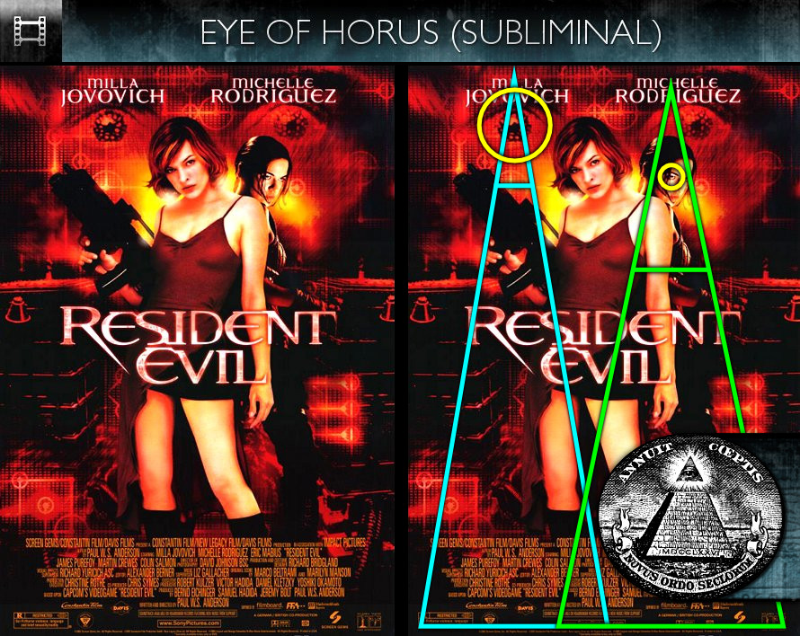 Resident Evil (2002) - Poster - Eye of Horus - Subliminal