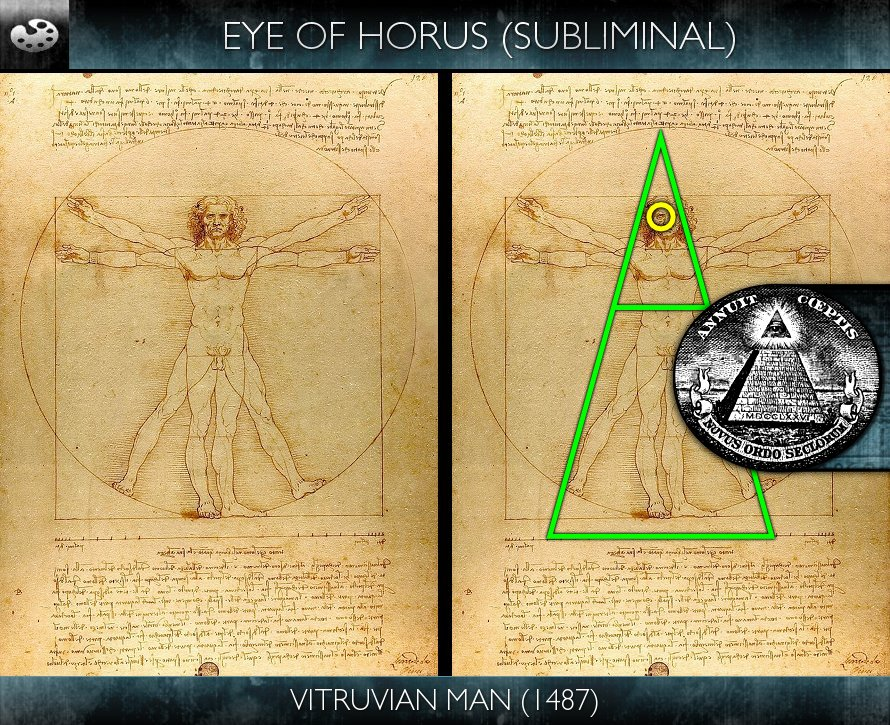Vitruvian Man (1487) | Hollywood Subliminals Da Vinci Symbols
