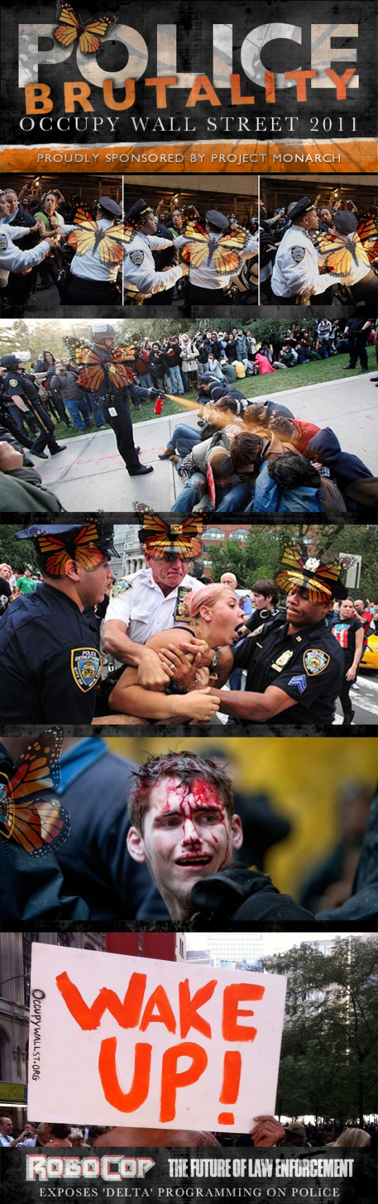 Police Brutality: Occupy Wall Street - Project Monarch