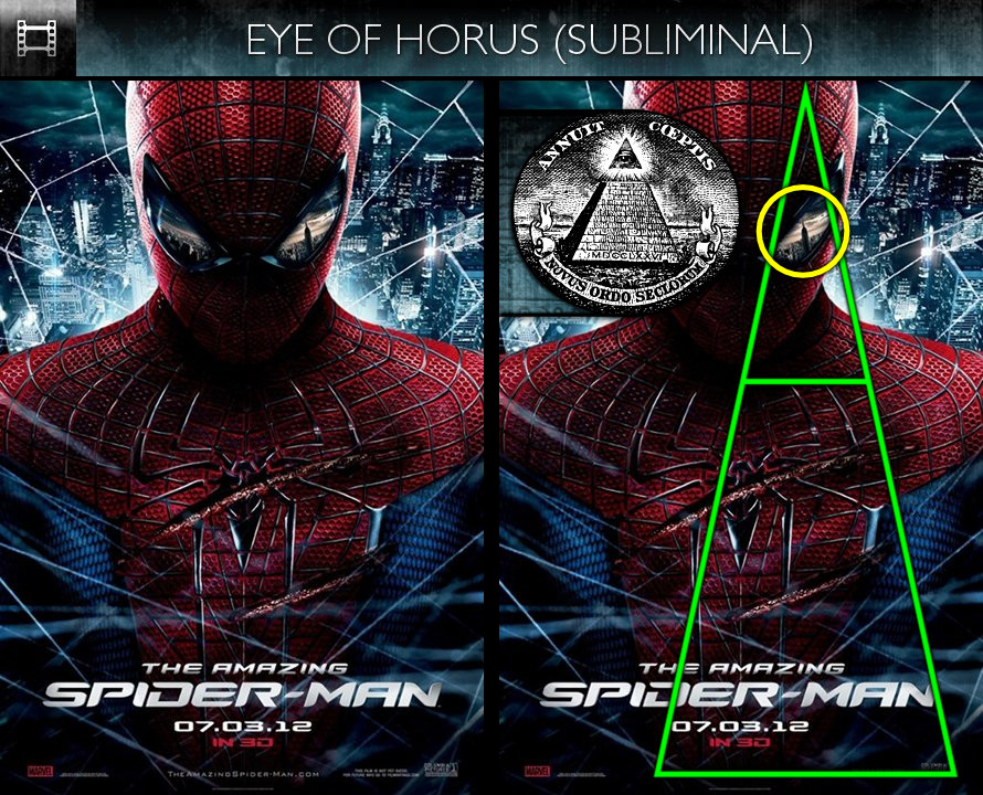 The Amazing Spider-Man (2012) - Poster - Eye of Horus - Subliminal