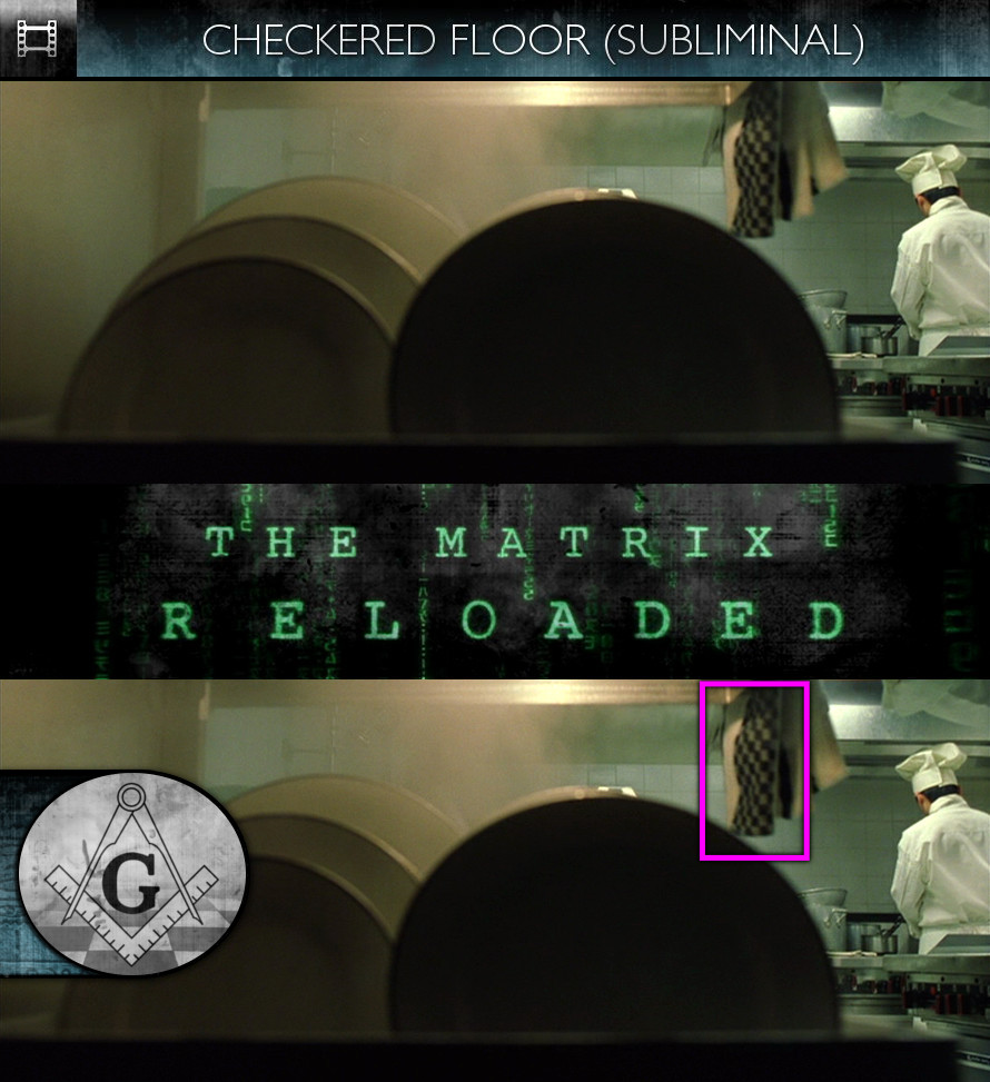 The Matrix Reloaded (2003) - Checkered Floor - Subliminal