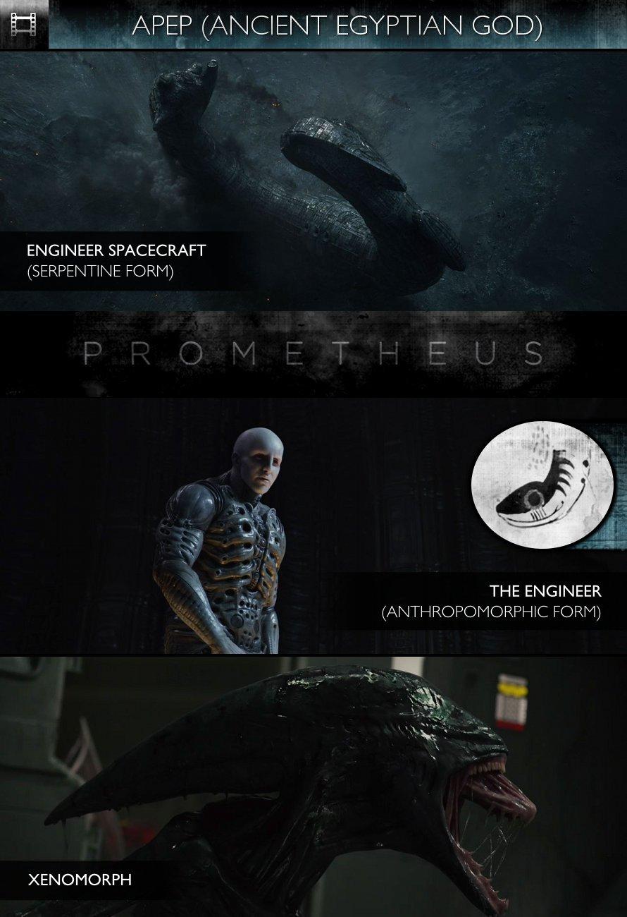 APEP - Prometheus (2012) - Engineer Spacecraft & The Engineer/Xenomorph