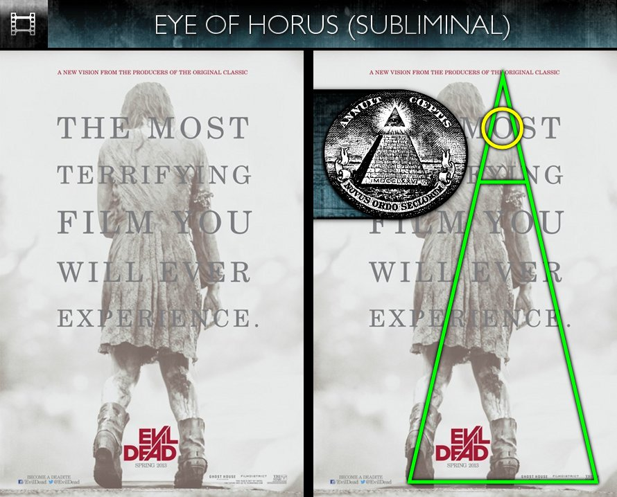 Evil Dead (2013) - Poster - Eye of Horus - Subliminal