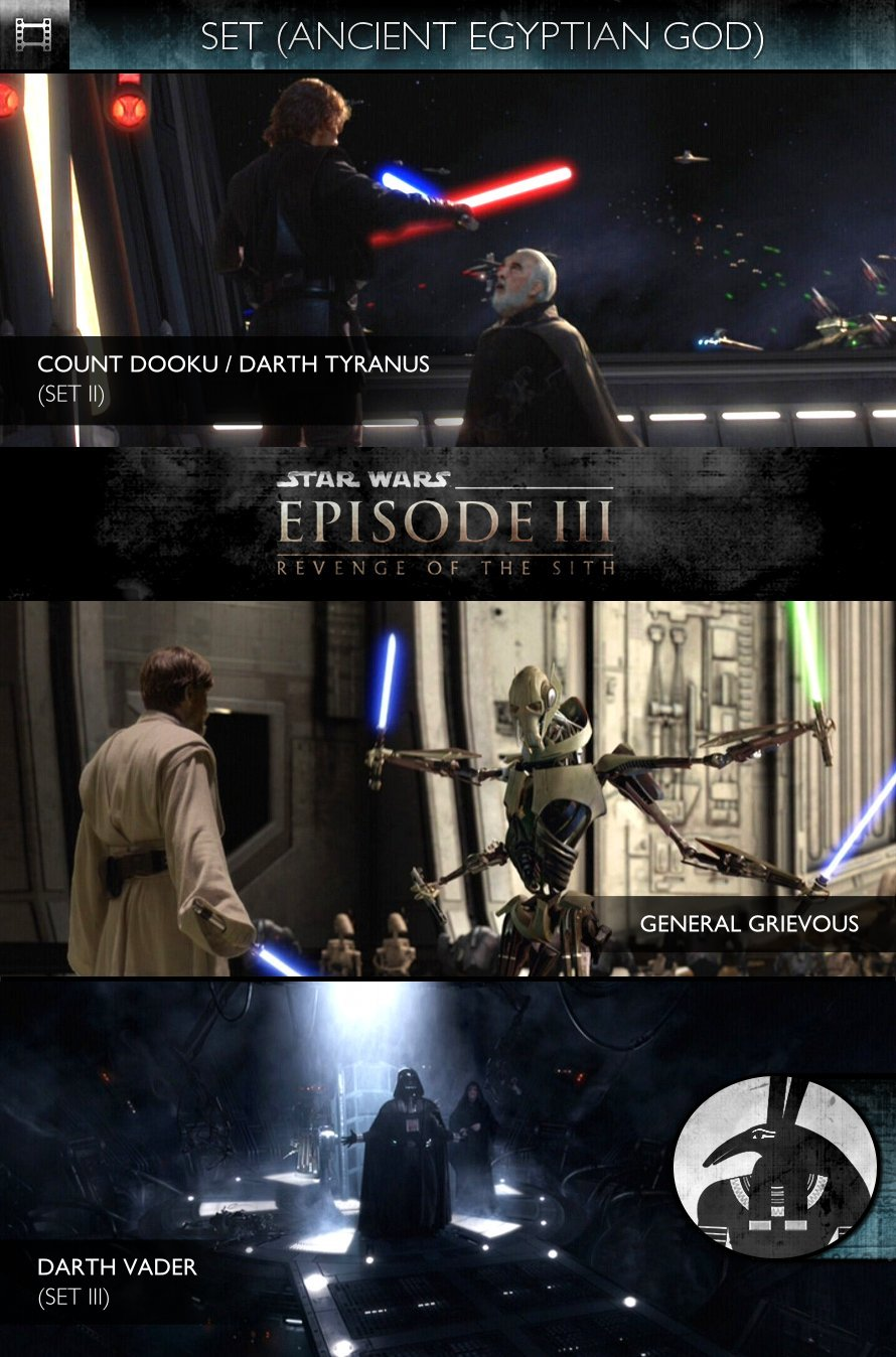 SET - Star Wars - Episode III: Revenge of the Sith (2005) - Count Dooku, General Grievous & Darth Vader