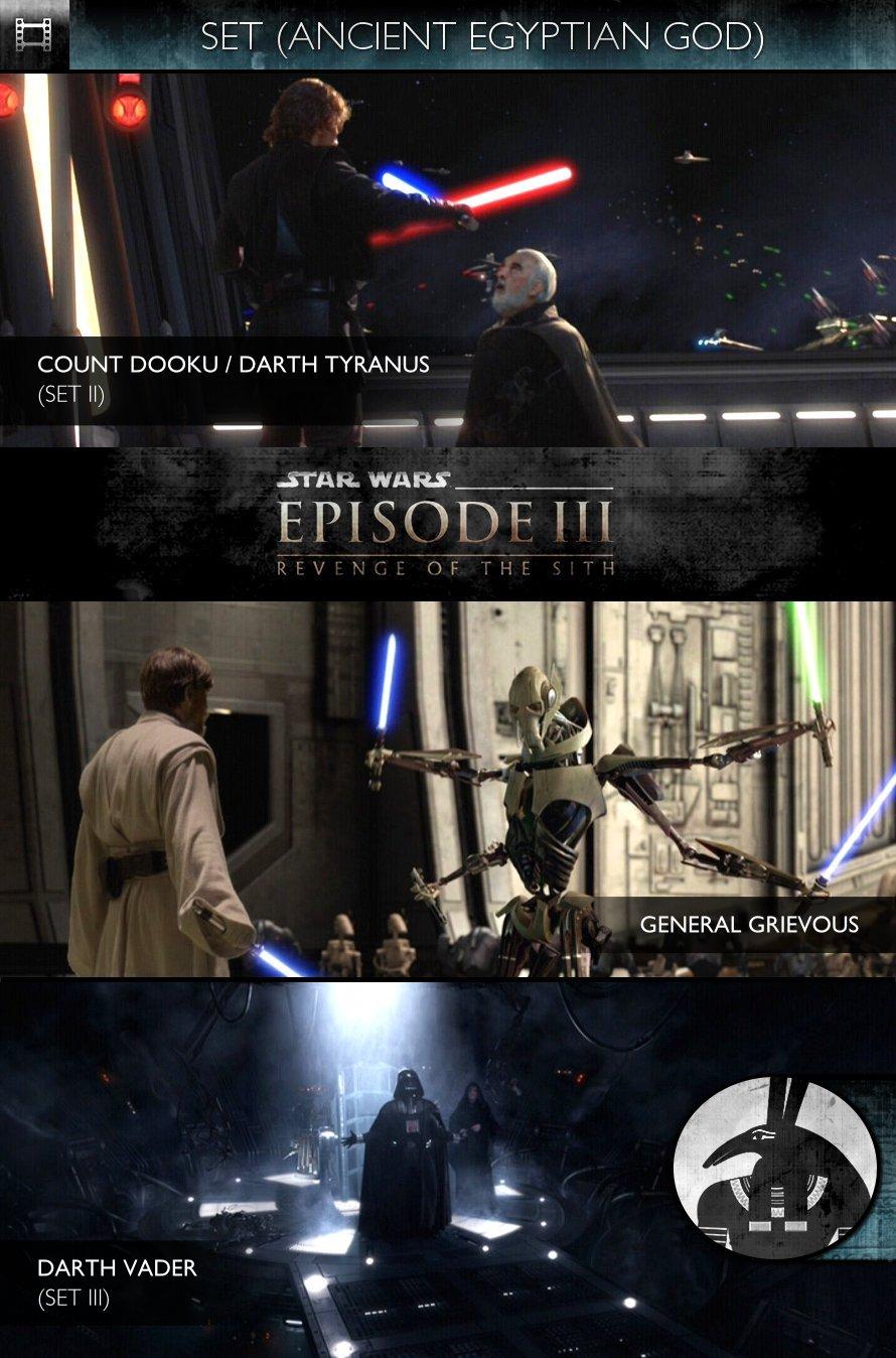 SET - Star Wars - Episode III: Revenge of the Sith (2005) - Count Dooku, General Grievous & Darth Vader