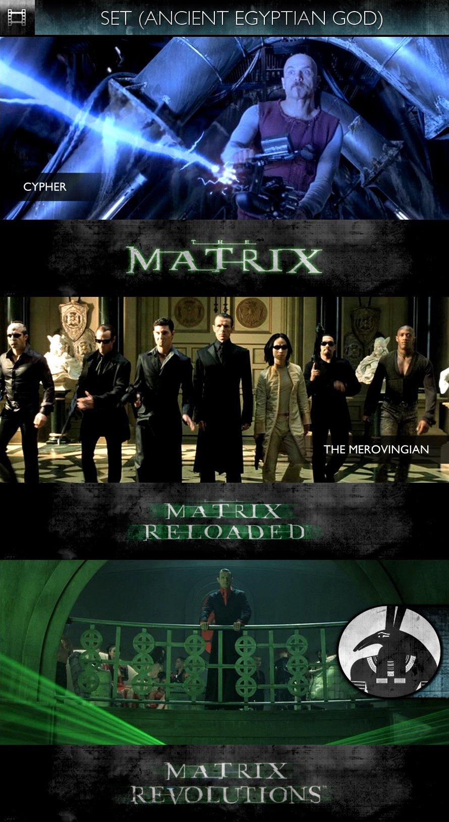 SET - The Matrix Trilogy (1999-2003) - Cypher & The Merovingian