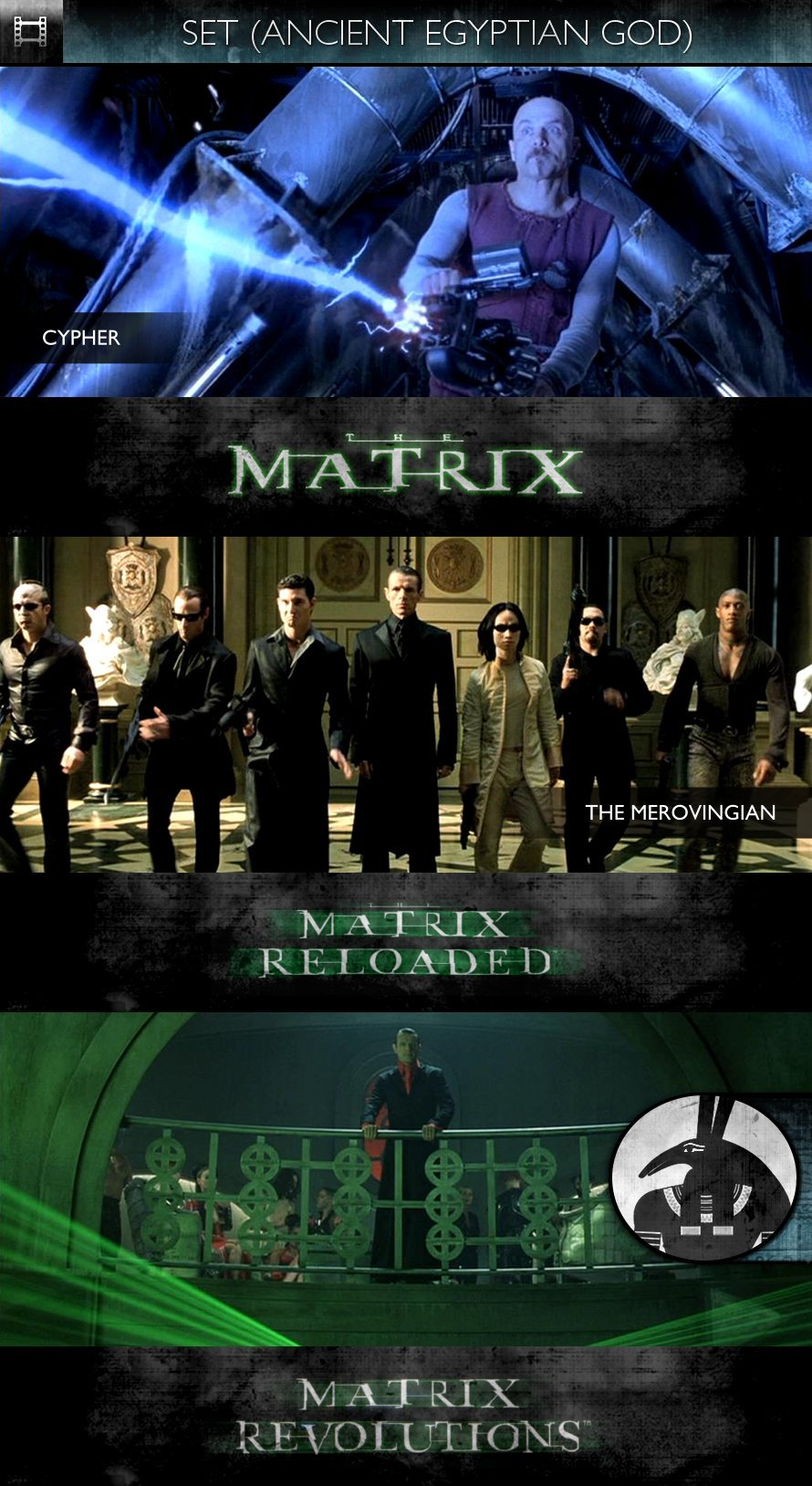 SET - The Matrix Trilogy (1999-2003) - Cypher & The Merovingian