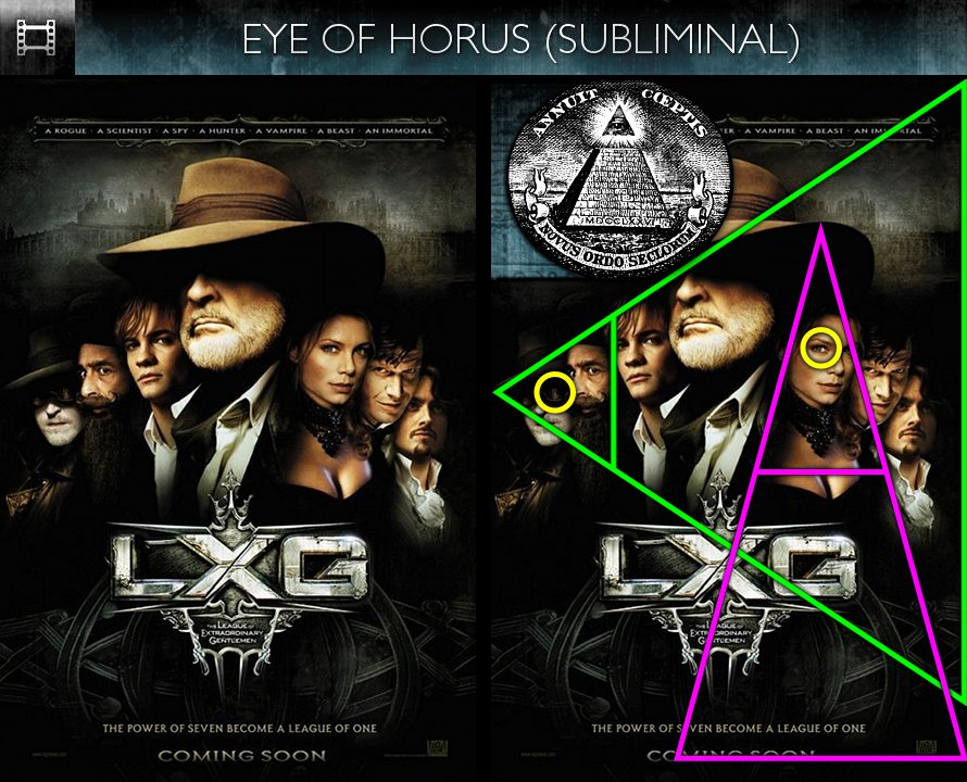 The League of Extraordinary Gentlemen (2003) - Poster - Eye of Horus - Subliminal