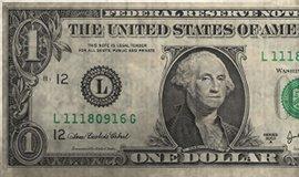 American 1 Dollar Bill