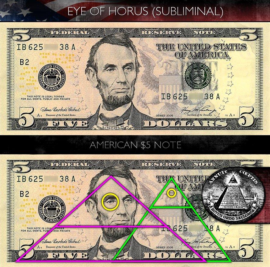 Us 5 Dollar Bill Hollywood Subliminals