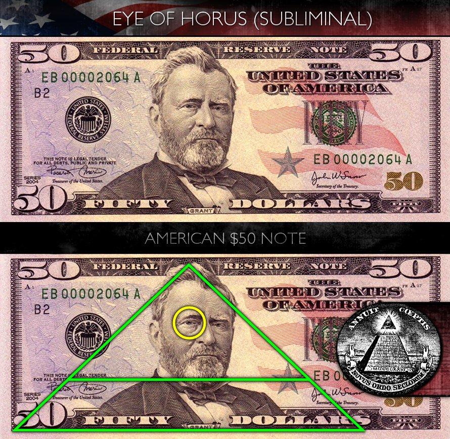Green,dollar,pyramid