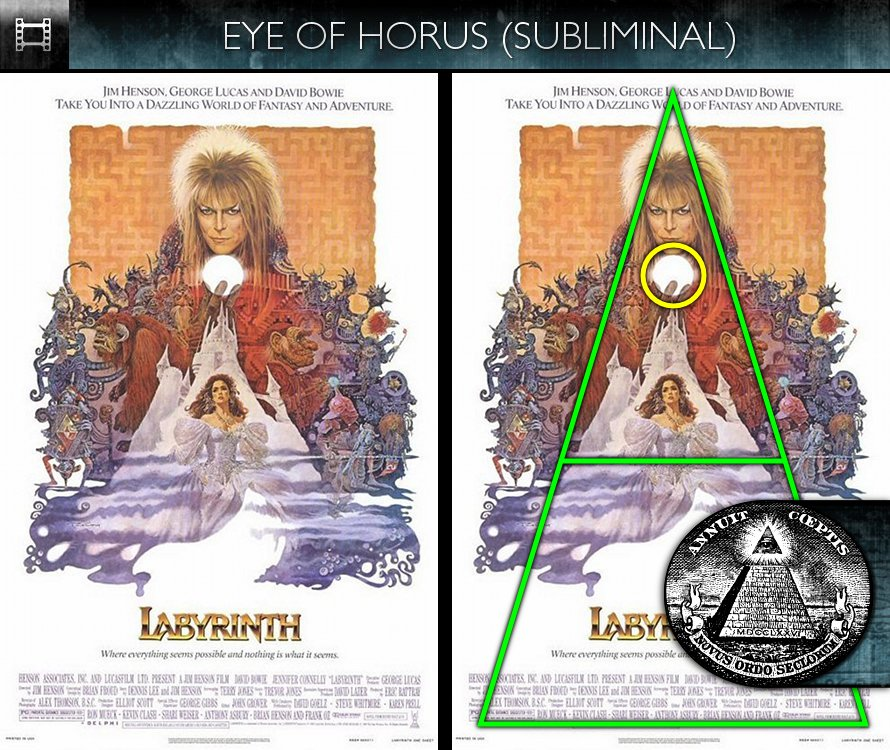 Poster Subliminals | Hollywood Subliminals Labyrinth 1986 Poster