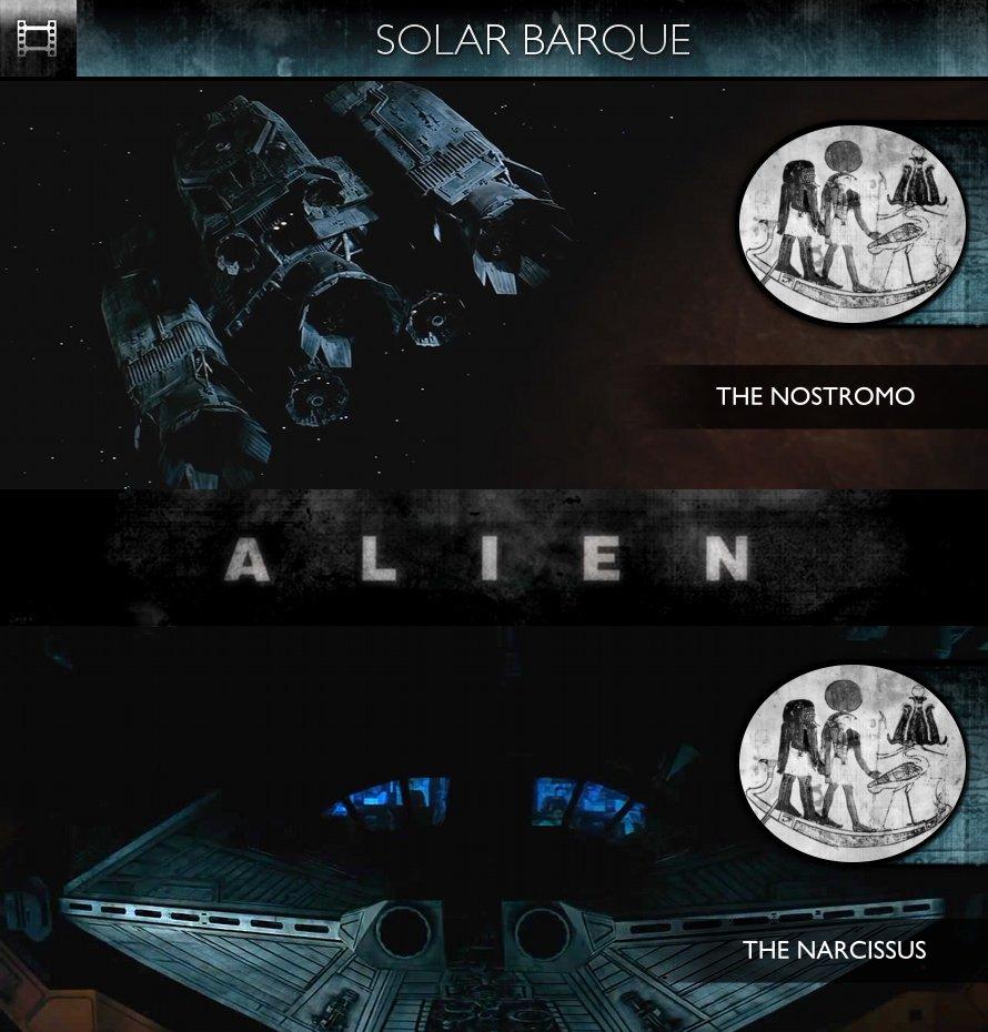Alien (1979) - Solar Barque - Nostromo & Narcissus