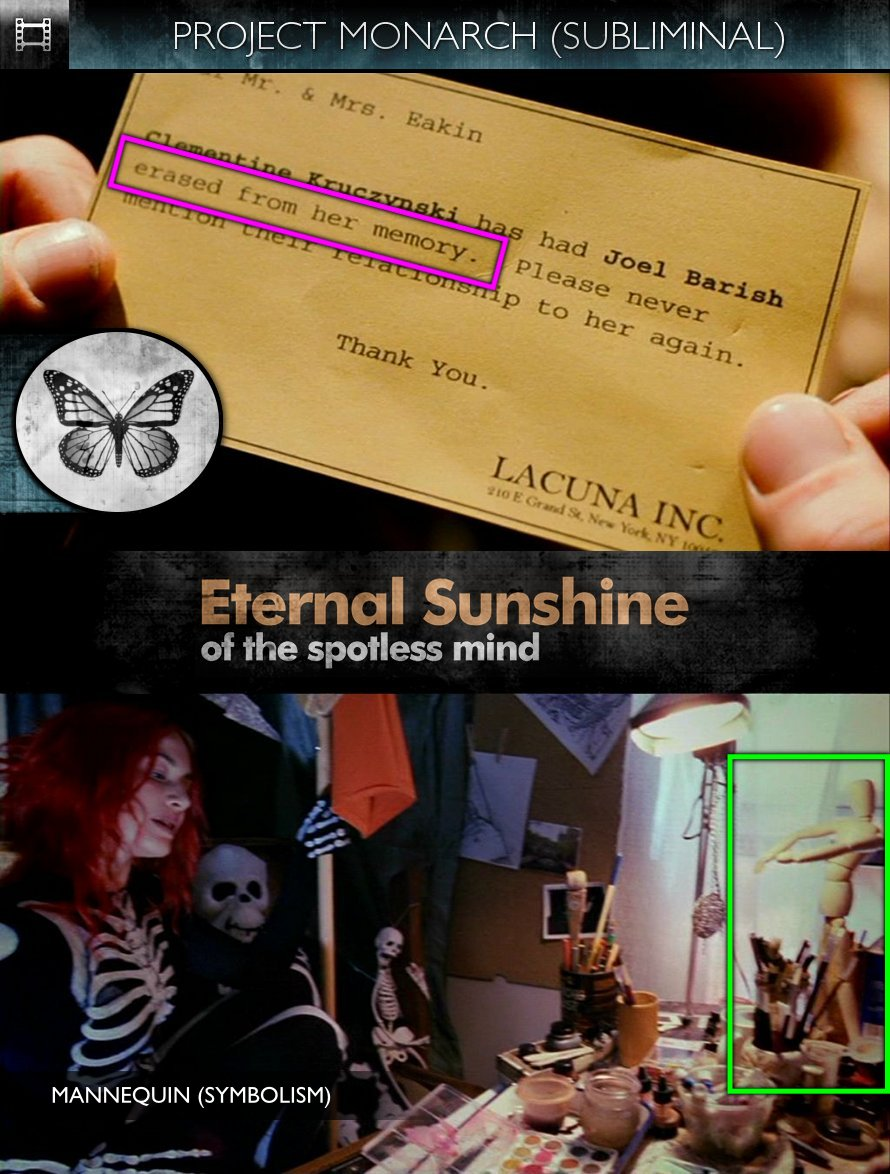 Eternal Sunshine Of The Spotless Mind (2004) - Project Monarch - Subliminal