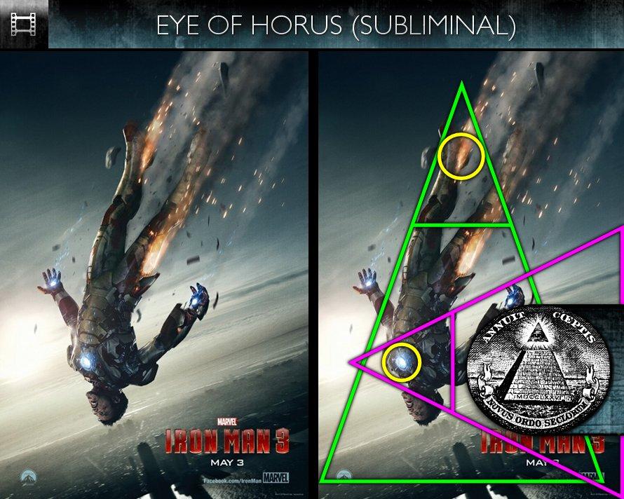 Iron Man 3 (2013) - Poster - Eye of Horus - Subliminal