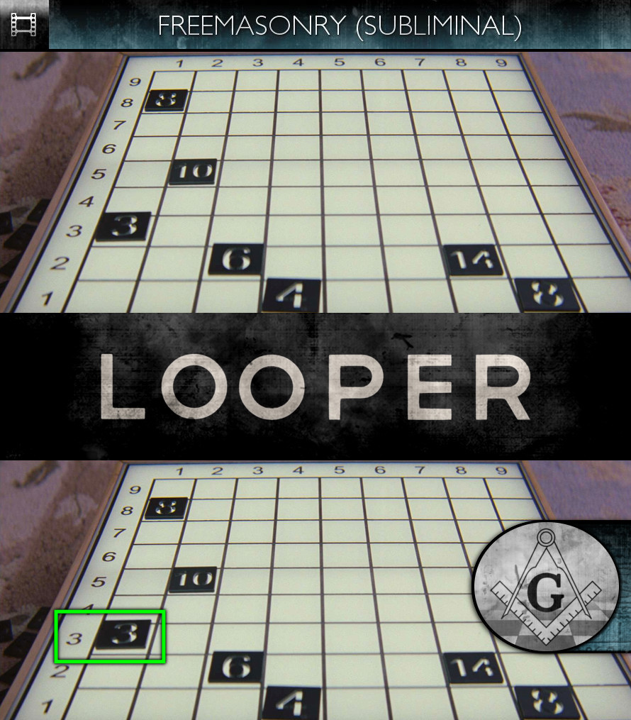 Looper (2012) - Freemasonry - Subliminal