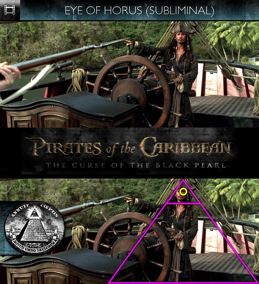 Pirates of the Caribbean: The Curse of the Black Pearl (2003) - Eye of Horus - Subliminal