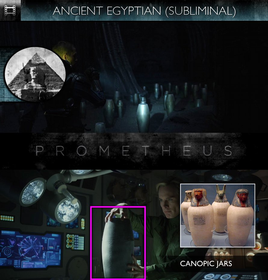 Prometheus (2012) - Ancient Egyptian - Canopic Jars - Subliminal