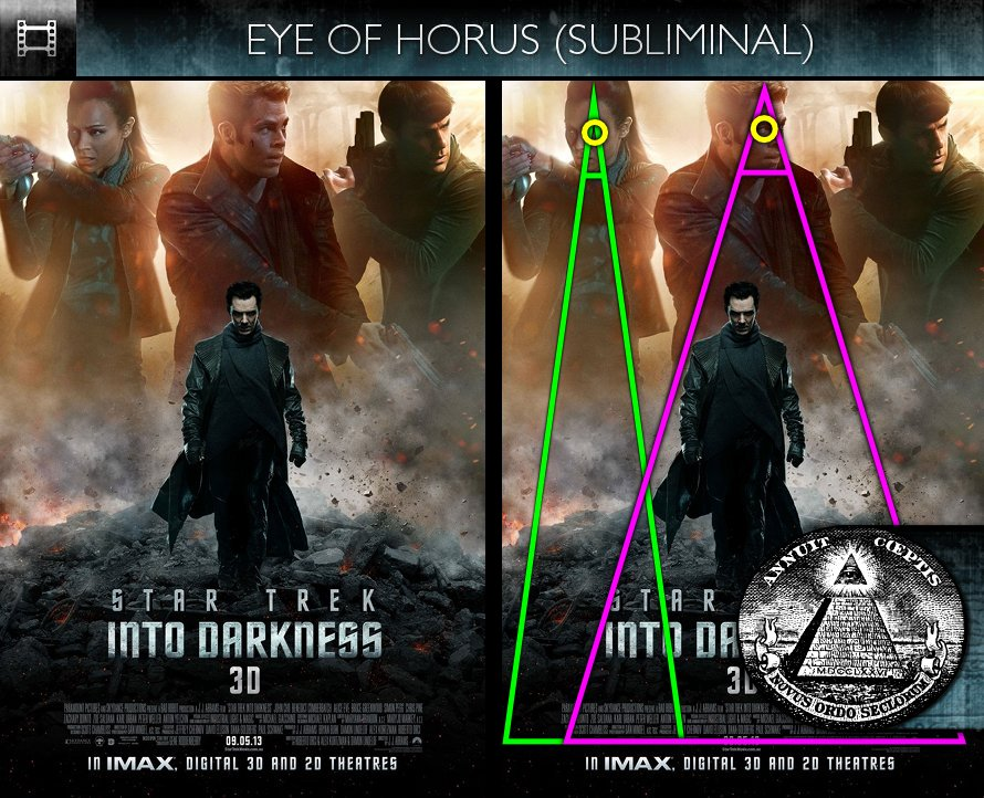 Star Trek Into Darkness (2013) - Poster  - Eye of Horus - Subliminal