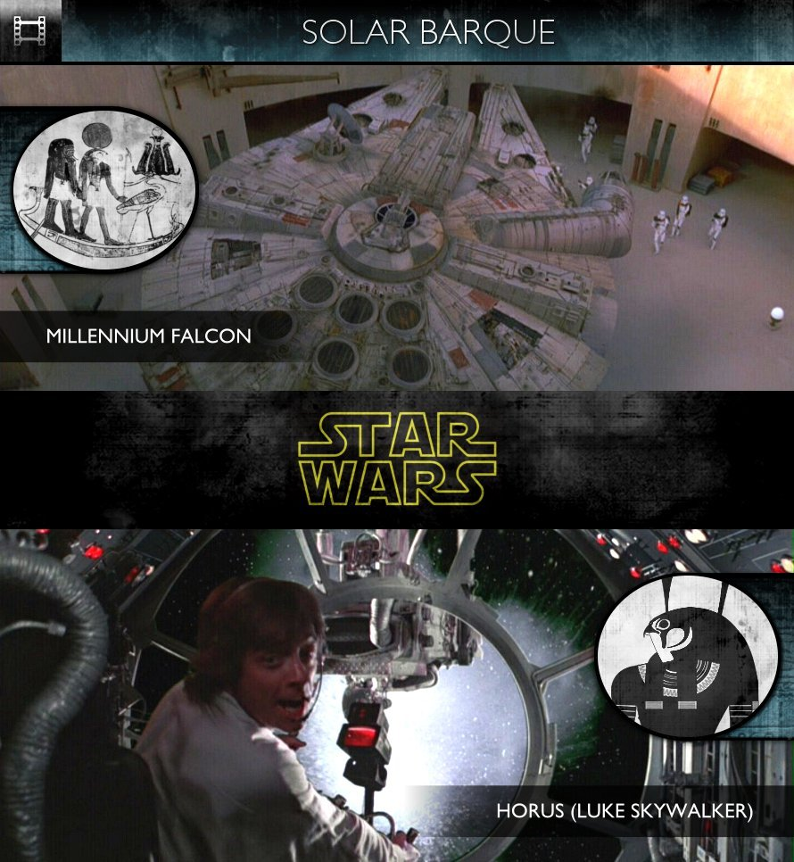 Star Wars - Episode IV: A New Hope (1977) - Solar Barque - Millennium Falcon