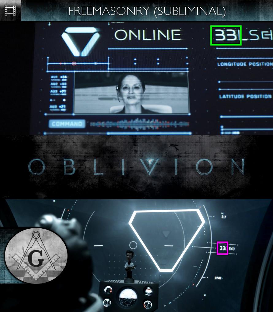 Oblivion (2013) - Freemasonry - Subliminal