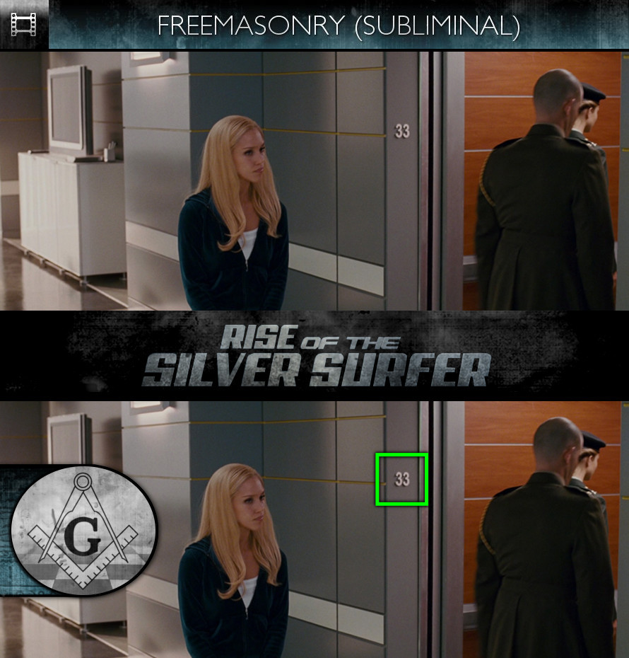 Fantastic Four: Rise of the Silver Surfer (2007) - Freemasonry - Subliminal