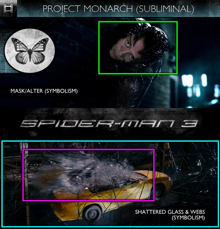 Spider-Man 3 (2007) - Project Monarch - Subliminal
