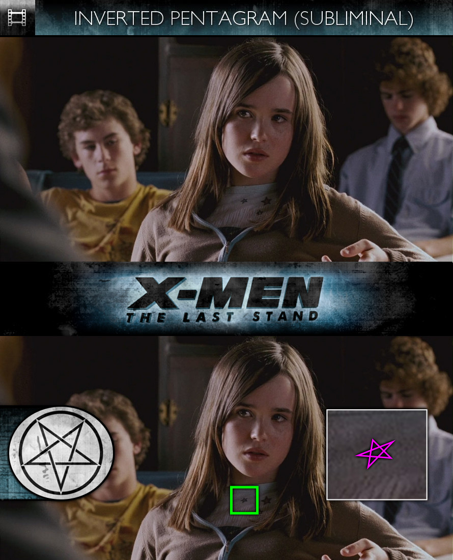 X-Men: The Last Stand (2006) - Inverted Pentagram - Subliminal