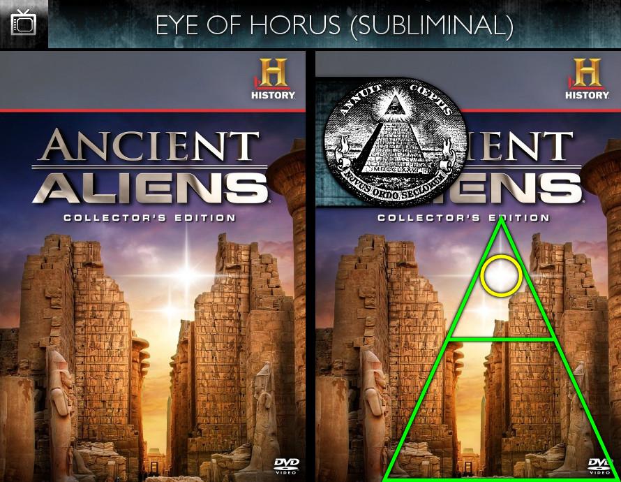 Ancient Aliens (2010) - Season 1-4 DVD - Eye of Horus - Subliminal
