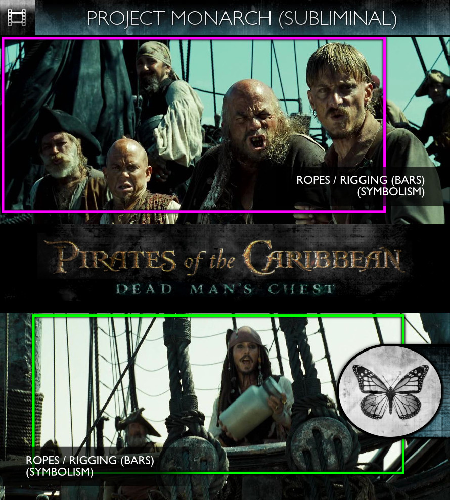 Pirates of the Caribbean: Dead Man's Chest (2006) - Project Monarch - Subliminal