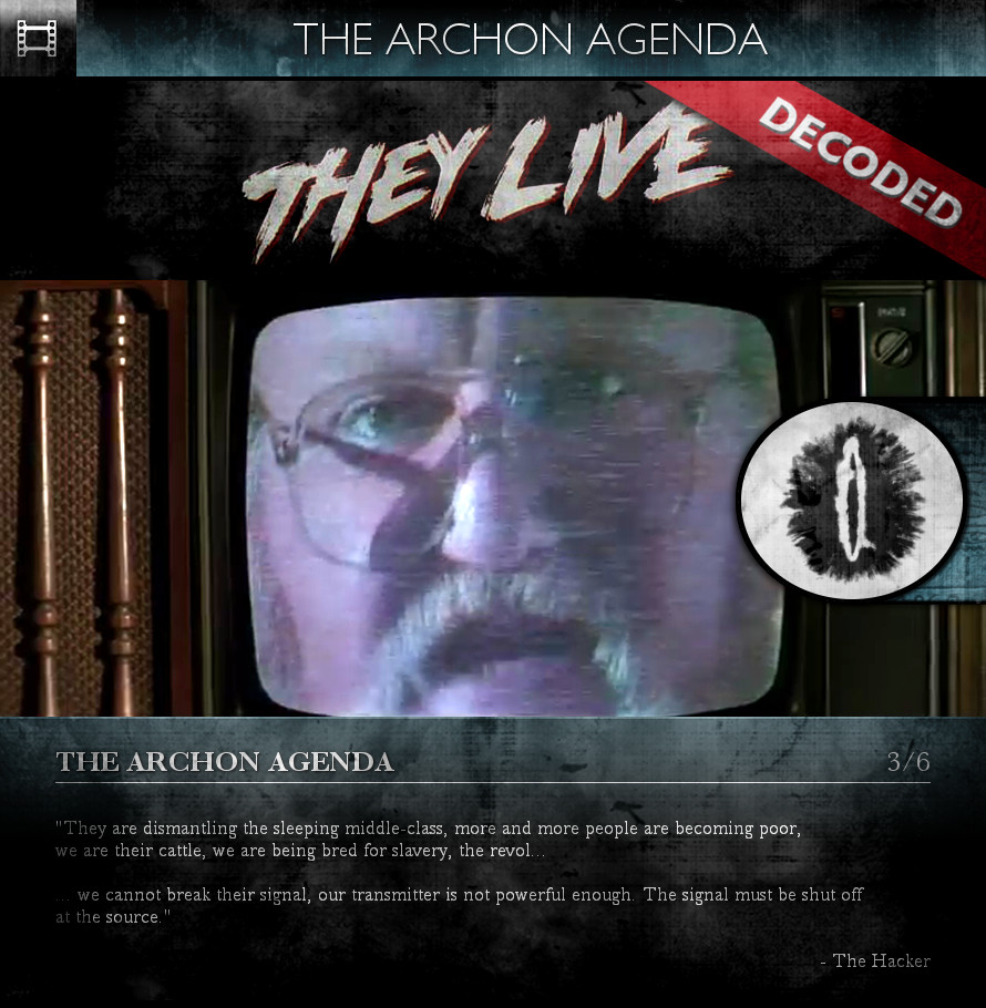 They Live (1988) - The Archon Agenda - Subliminal