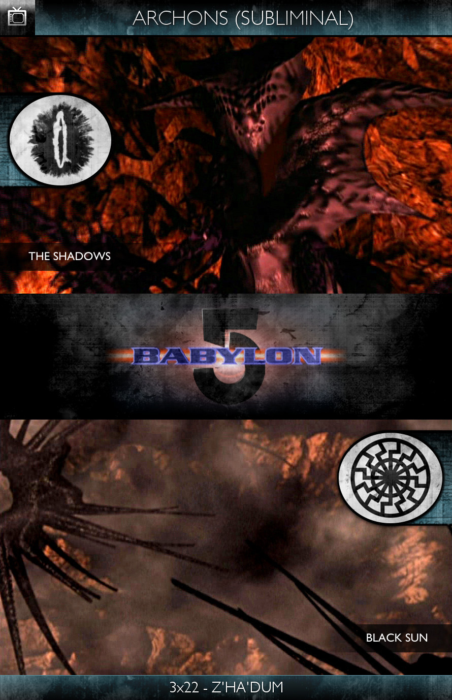 Archons - Babylon 5 (1994) - 3x22-Z'ha'dum - The Shadows