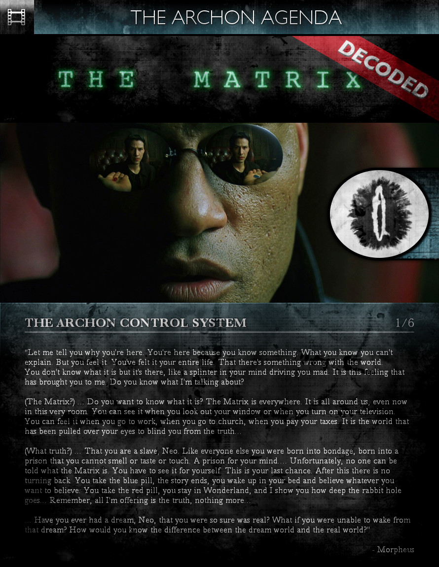 The Matrix (1999) - The Archon Agenda