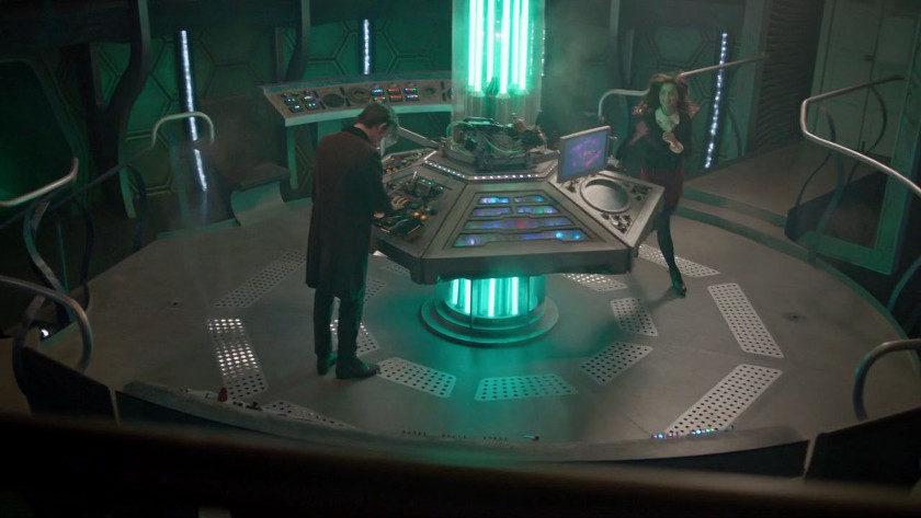 TARDIS Neon Console Room - The Time of the Doctor (2013 Christmas Special)