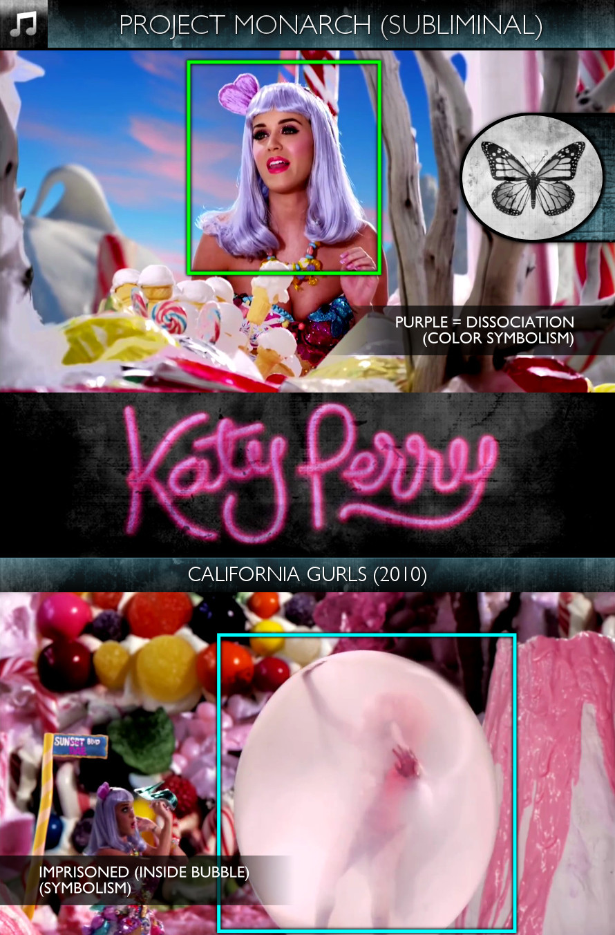 Katy Perry - California Gurls (2010) - Project Monarch - Subliminal