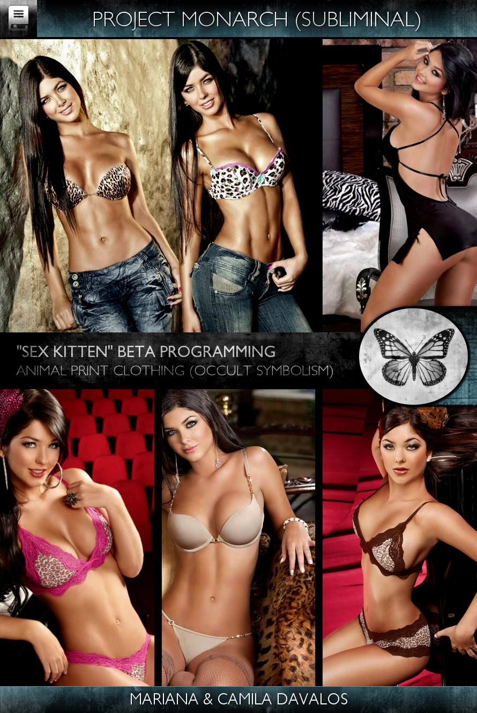 Project Monarch - Sex Kitten (Beta Programming) - Models - Mariana & Camila Davalos