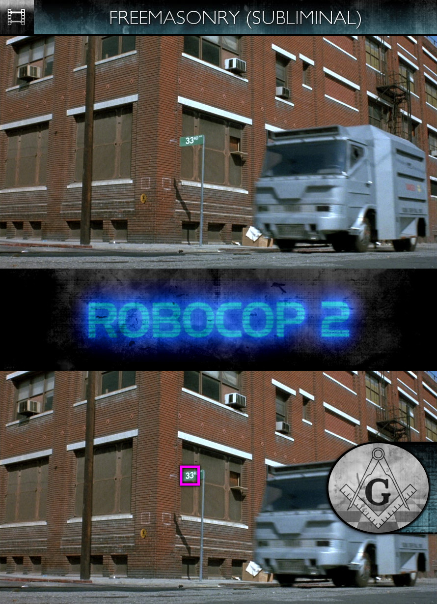 RoboCop 2 (1990) - Freemasonry - Subliminal